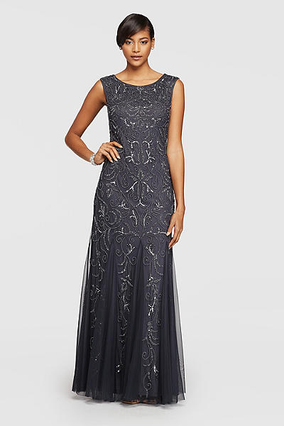 Mother of the bride gown charcoal