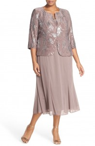 Plus size mother of the bride dress