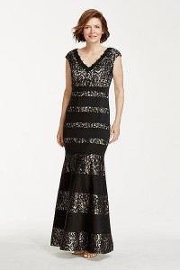 mother of the bride dress black nude