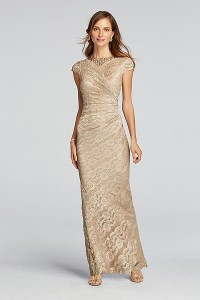 Champagne Bride's mother dress