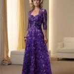 Elegant Purple Mother of the Bride Dress