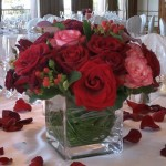 Rose Wedding Centerpiece