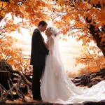 The beauty of a fall wedding