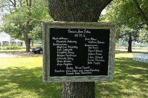 Chalkboard wedding idea