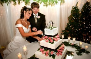 Wedding cake cermony
