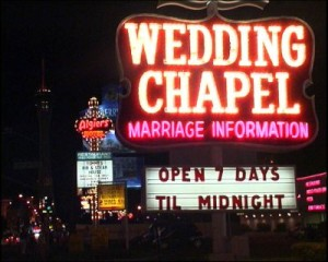 Quickie wedding chapel